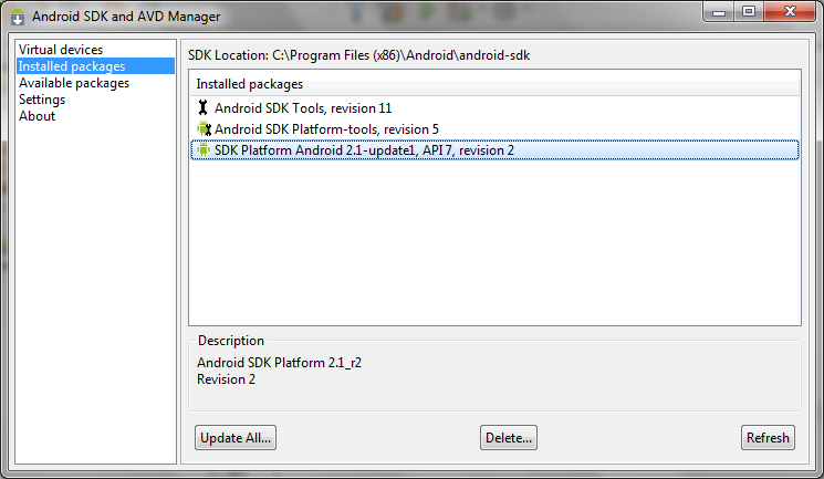 Image Gallery netbeans android development